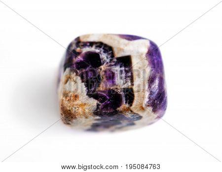 Natural gemstone amethyst close-up beautiful texture of gemstone