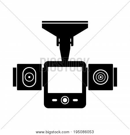 Car DVR, shade picture on white background