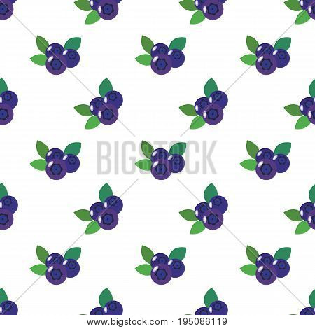Seamless Background Image Colorful Tropical Fruit Blueberry