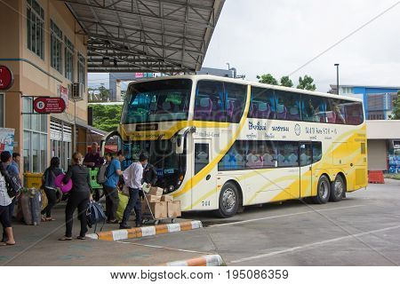 Passenger And Scania Bus Of Phrtprasert Tour Company Bus