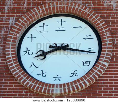 Chinese clock 1 2 3 4 5 6 7 8 9 10 11 12