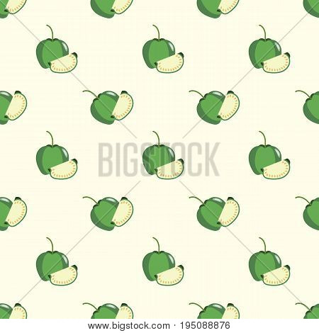 Seamless Background Image Colorful Tropical Fruit Tomatillo