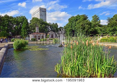 famous Italian Gardens at Hyde Park in London, UK