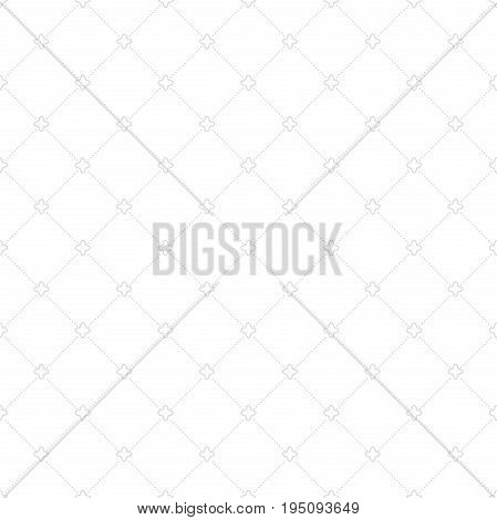 Geometric dotted light silver pattern. Seamless abstract modern texture for wallpapers and backgrounds