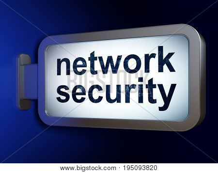Security concept: Network Security on advertising billboard background, 3D rendering