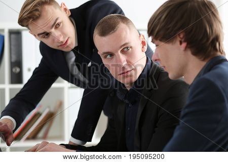 Group Of People Deliberate On Problem