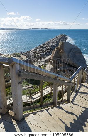 Granite Island Groyne And Staircase, Victor Harbor, South Australia: Landscape