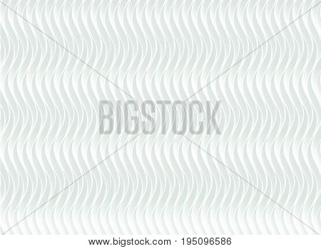 White abstract wave pattern with light relief ornate