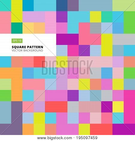 Abstract square pattern colorful background template Vector Illustration