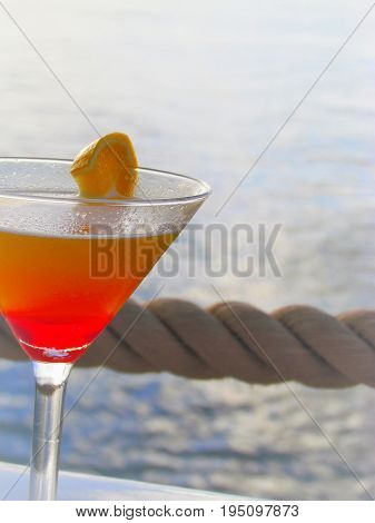 Sex on the Beach Cocktail in St Kitts