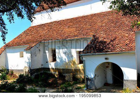 Old Medieval Saxon Evangelic Church In Halmeag (transylvania)