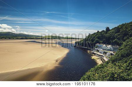 Portmeirion Colorful Coastal Town in North Wales UK