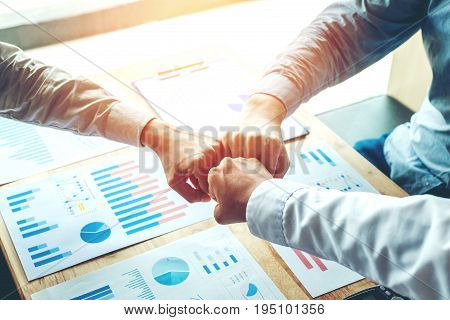 Business Teamwork joining hands team spirit community