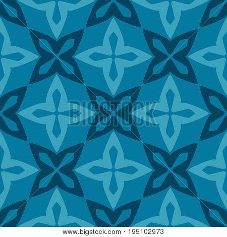 Blue moroccan ornamental decorative ceramic tile vector design