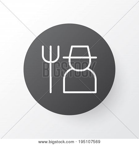 Farmer Icon Symbol. Premium Quality Isolated Grower Element In Trendy Style.