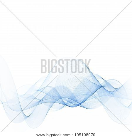 Smooth waves or lines .Abstract background.Blue wave.Water wave vector background.