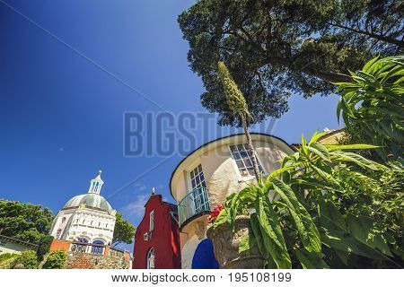Round House of Portmeirion in North Wales UK