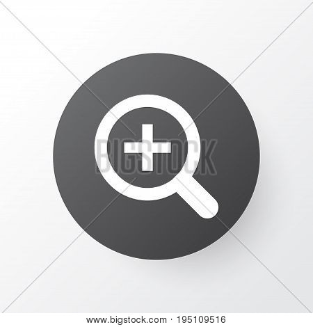 Magnifier Icon Symbol. Premium Quality Isolated Zoom In Element In Trendy Style.
