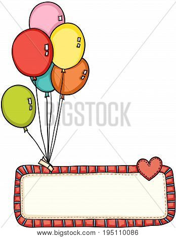 Scalable vectorial image representing a cute balloons icon illustration graphic design, isolated on white.