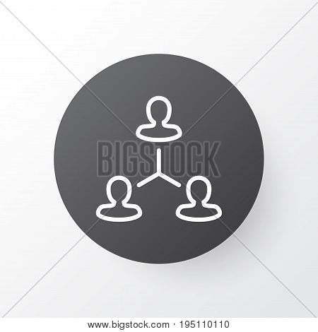Team Structure Icon Symbol. Premium Quality Isolated Hierarchy Element In Trendy Style.