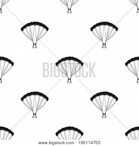 Parachuting.Extreme sport single icon in black style vector symbol stock illustration .