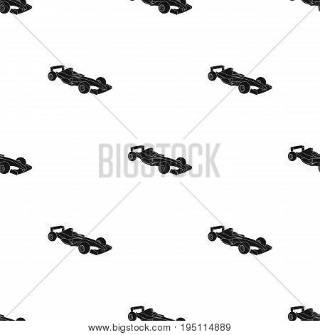 Car racing.Extreme sport single icon in black style vector symbol stock illustration .