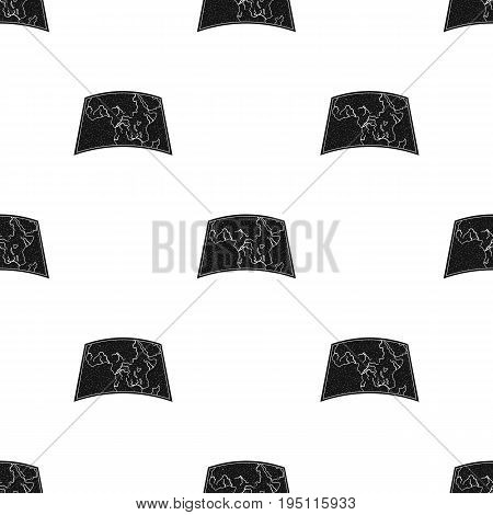 Map of mainland Africa.African safari single icon in black style vector symbol stock illustration .