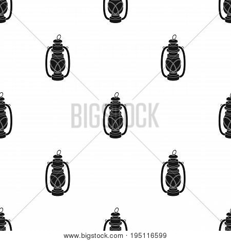 Portable kerosene lamp.African safari single icon in black style vector symbol stock illustration .