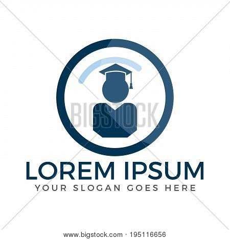 Human and Book vector logo. School, University or Educational institute logo.