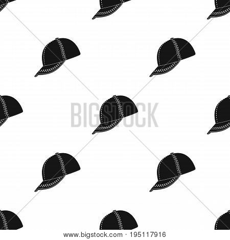 Baseball cap. Baseball single icon in black style vector symbol stock illustration .