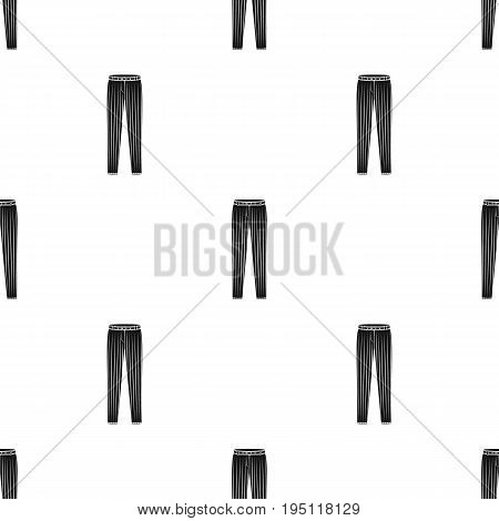 Uniform pants baseball. Baseball single icon in black style vector symbol stock illustration .