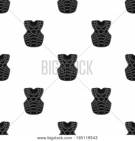 Vest baseball. Baseball single icon in black style vector symbol stock illustration .