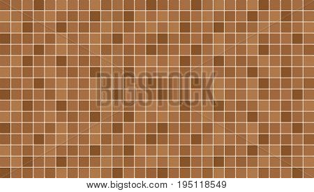 Brown and beige ceramic floor and wall tiles. Abstract vector background. Geometric mosaic texture. Simple seamless pattern for backdrop advertising banner poster flyer or web