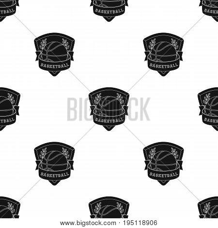 Basketball emblem.Basketball single icon in black style vector symbol stock illustration .