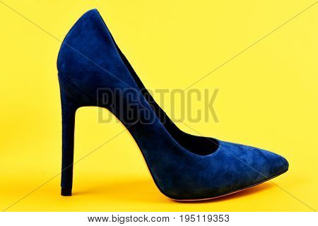 Fashion, Shopping And Glamour Concept. High Heel Footwear