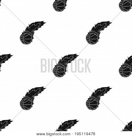 Fireball.Basketball single icon in black style vector symbol stock illustration .
