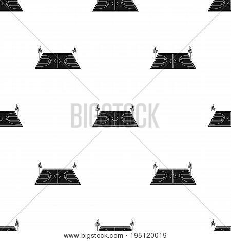 Basketball court.Basketball single icon in black style vector symbol stock illustration .
