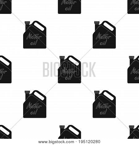Can of engine oil.Car single icon in black style vector symbol stock illustration .