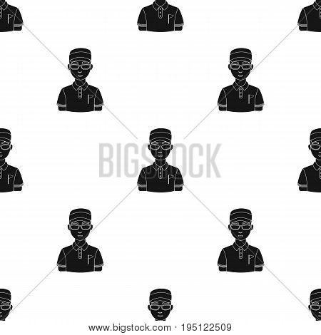 Golfer.Golf club single icon in black style vector symbol stock illustration .