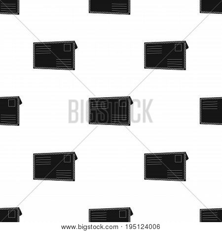 Postal envelope.Mail and postman single icon in black style vector symbol stock illustration .