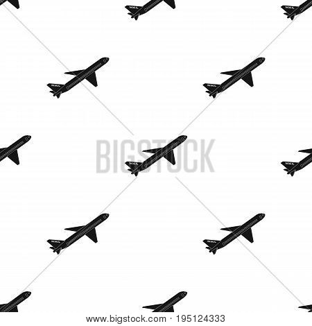 Postal aircraft.Mail and postman single icon in black style vector symbol stock illustration .