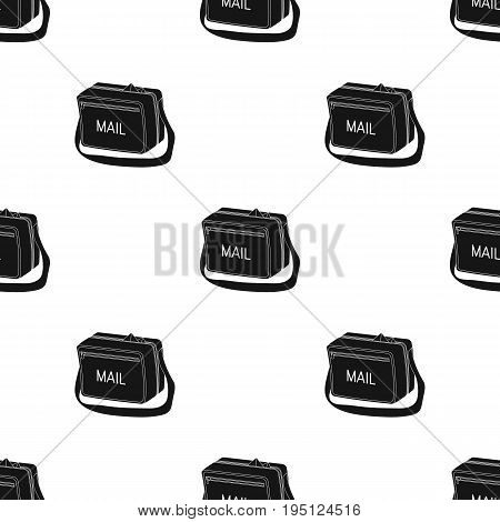 Postal bag.Mail and postman single icon in black style vector symbol stock illustration .