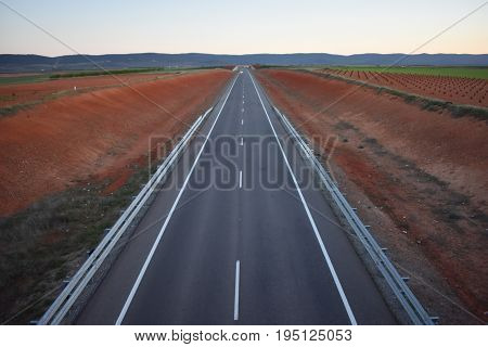 The freeway to freedom in reddish and gray