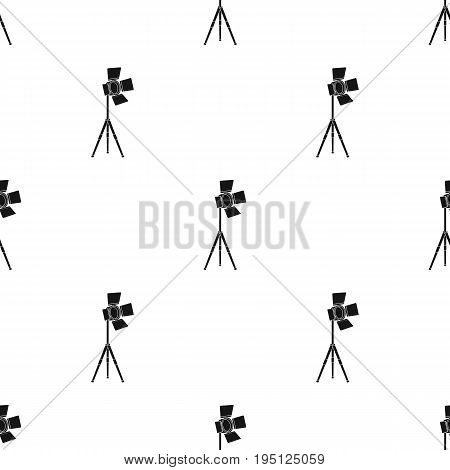 Searchlight for cinema.Making movie single icon in black style vector symbol stock illustration .