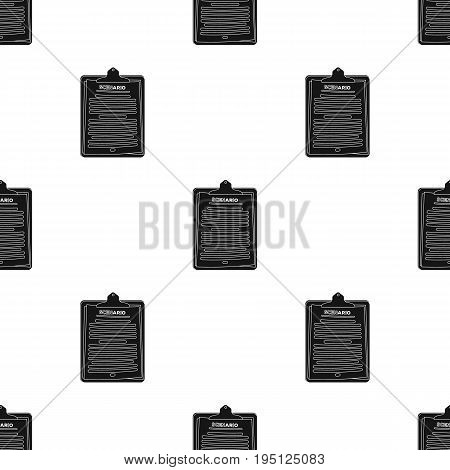 Scenario.Making movie single icon in black style vector symbol stock illustration .