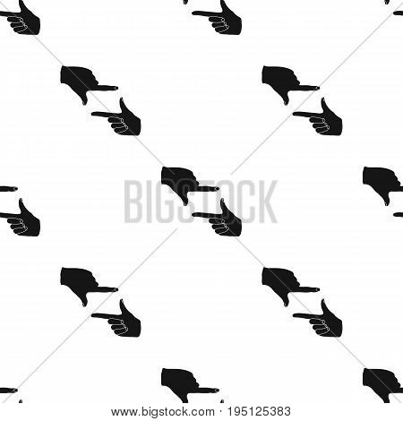 Gesture of the operator.Making movie single icon in black style vector symbol stock illustration .