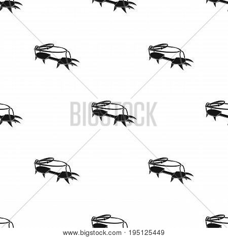 Spikes on the shoes.Mountaineering single icon in black style vector symbol stock illustration .