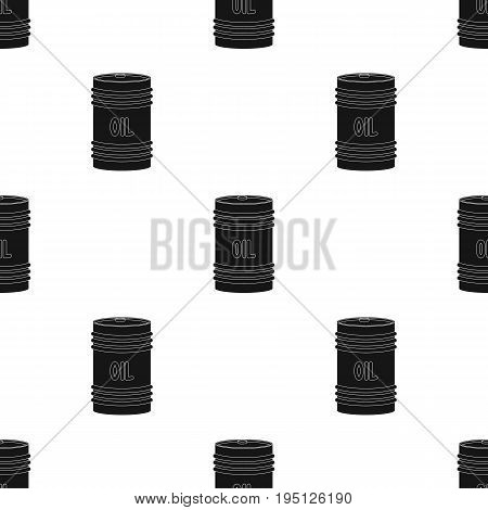 Barrel of oil.Oil single icon in black style vector symbol stock illustration .