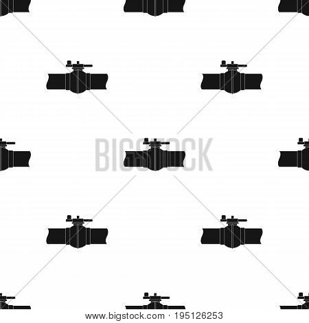 Pipeline shutter.Oil single icon in black style vector symbol stock illustration .