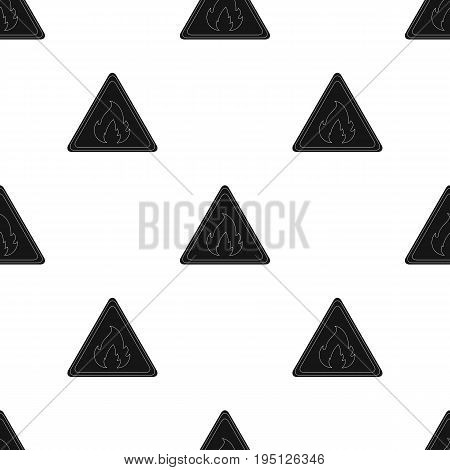 Sign of flammability.Oil single icon in black style vector symbol stock illustration .